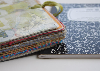 Making a Composition Book Art into a Journal 2 (Tutorial) via lilblueboo.com