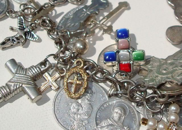"Eclectic ""Catch All"" Charm & Trinket Bracelets 9 via lilblueboo.com"