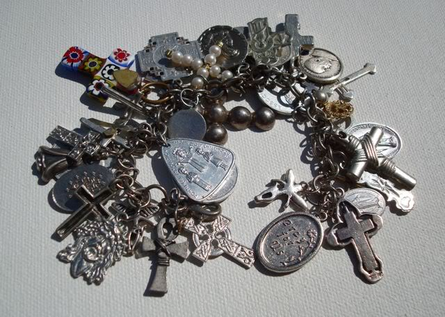 "Eclectic ""Catch All"" Charm & Trinket Bracelets 8 via lilblueboo.com"