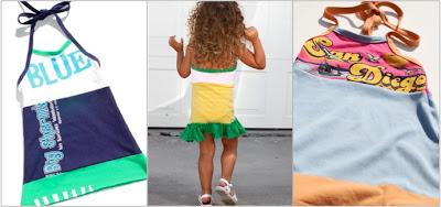 Recycled T-Shirt Halter / Tie Back Dress ePattern 2 via lilblueboo.com