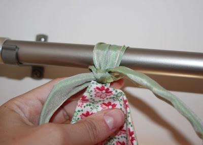 Hand-Sewn Ribbon-Top Curtain Tutorial hanging 2 via lilblueboo.com