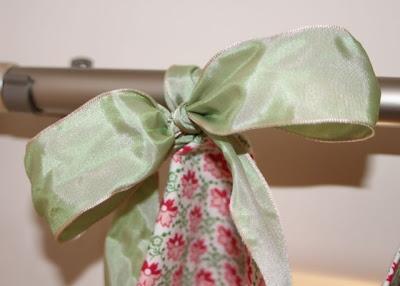 Hand-Sewn Ribbon-Top Curtain Tutorial hanging 3 via lilblueboo.com
