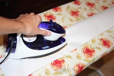 Ironing Plastic Bag to Melt - DIY Tutorial via lilblueboo.com
