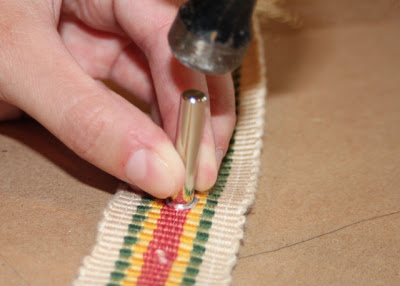 Hammer eyelet in place - DIY Tutorial via lilblueboo.com