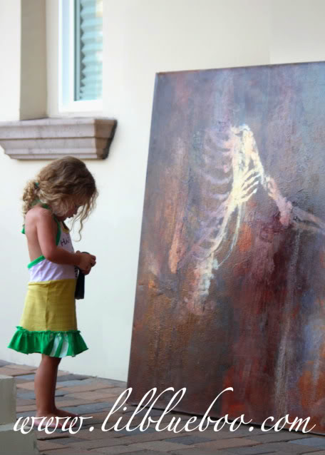 FOR SALE: Very large skeleton painting via lilblueboo.com