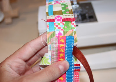 Scrap Ribbon Belt (A Tutorial) step 11 via lilblueboo.com