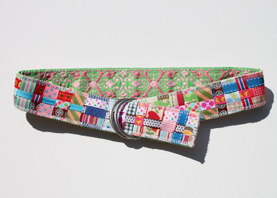 Scrap Ribbon Belt (A Tutorial) 2 via lilblueboo.com