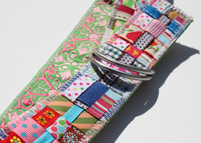 Scrap Ribbon Belt (A Tutorial) 3 via lilblueboo.com