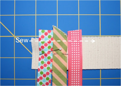Scrap Ribbon Belt (A Tutorial) step 2 via lilblueboo.com
