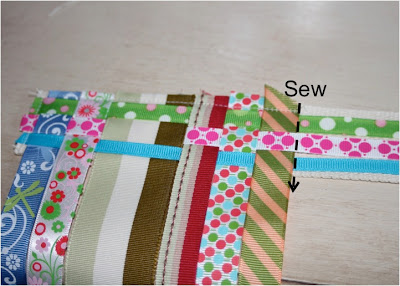 Scrap Ribbon Belt (A Tutorial) step 6 via lilblueboo.com
