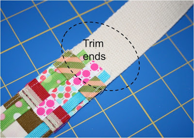 Scrap Ribbon Belt (A Tutorial) step 9 via lilblueboo.com