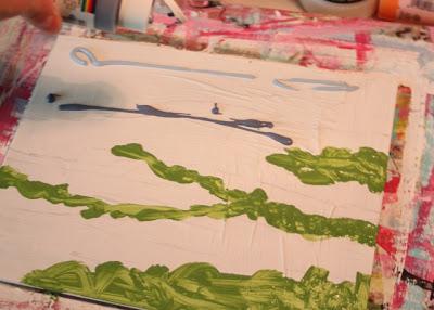 How to Fake a Landscape Painting (A Tutorial) step 1 via lillbueboo.com