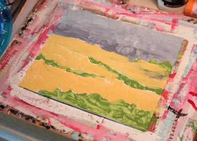 How to Fake a Landscape Painting (A Tutorial) step 2 via lillbueboo.com
