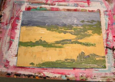 How to Fake a Landscape Painting (A Tutorial) step 9 via lillbueboo.com