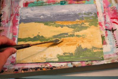 How to Fake a Landscape Painting (A Tutorial) step 13 via lillbueboo.com