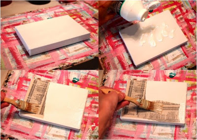 How to make a distressed folk art-style painting. DIY tutorial step 1 via lilblueboo.com