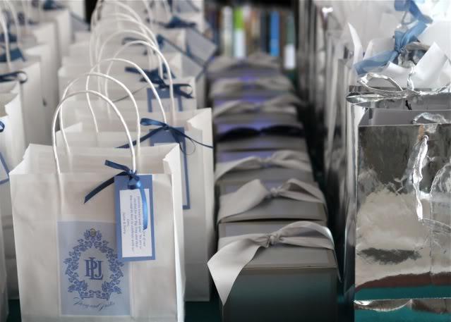 Wedding Part V: Preview gift bags via lilblueboo.com