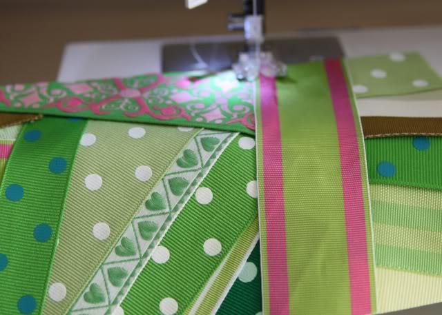 Scrap Ribbon Wallet/Clutch Tutorial step 4 via lilblueboo.com