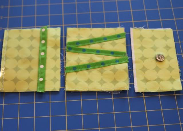 Scrap Ribbon Wallet/Clutch Tutorial step 10 via lilblueboo.com