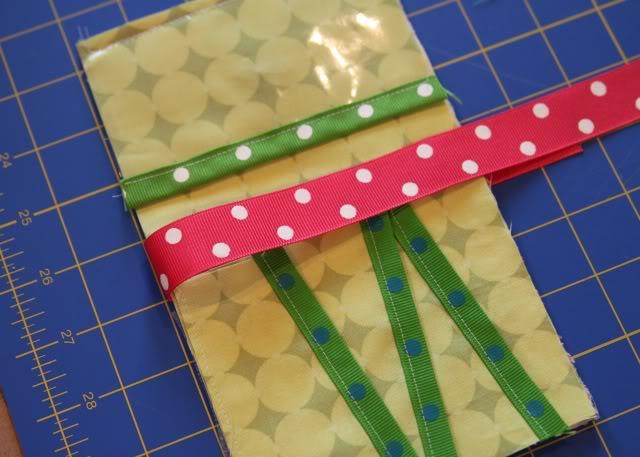 Scrap Ribbon Wallet/Clutch Tutorial step 11 via lilblueboo.com