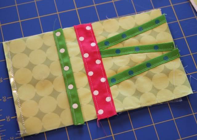Scrap Ribbon Wallet/Clutch Tutorial step 11b via lilblueboo.com