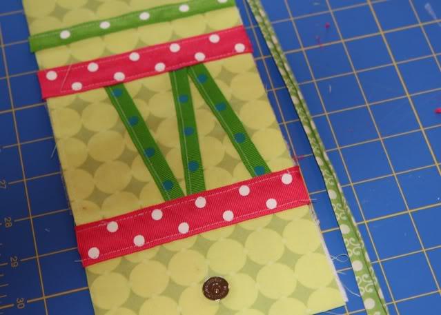 Scrap Ribbon Wallet/Clutch Tutorial step 12 via lilblueboo.com