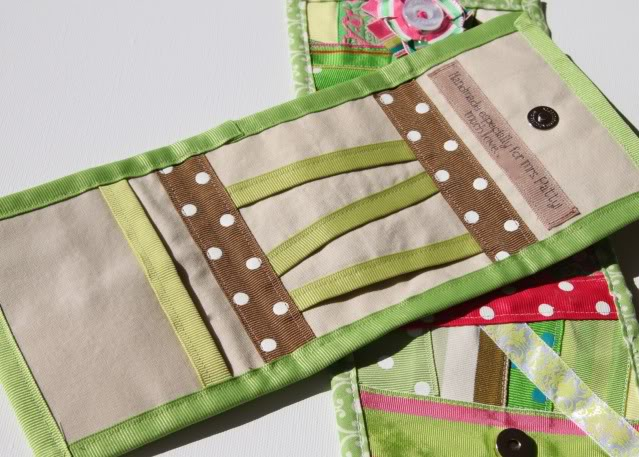 Scrap Ribbon Wallet/Clutch Tutorial 4 via lilblueboo.com