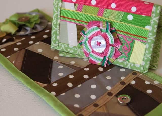 Scrap Ribbon Wallet/Clutch Tutorial 6 via lilblueboo.com