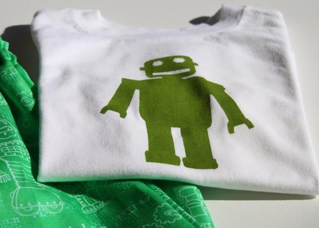 Free DIY Robot Stencil Template Download 2 via lilblueboo.com