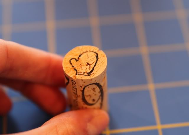 How to make mini stamps from wine corks 5 via lilblueboo.com