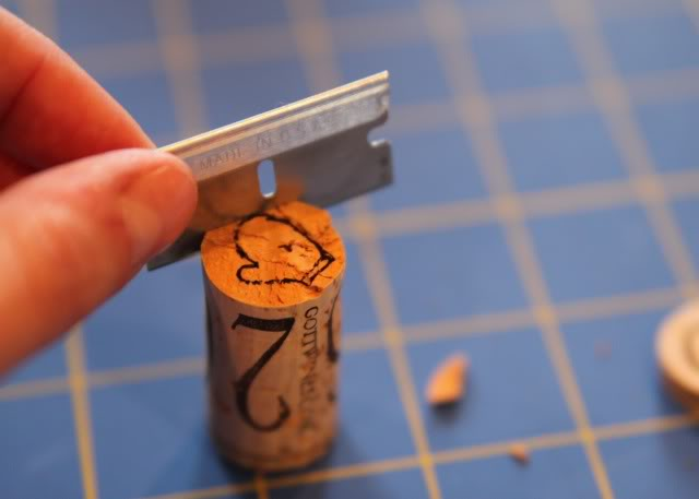How to make mini stamps from wine corks 6 via lilblueboo.com