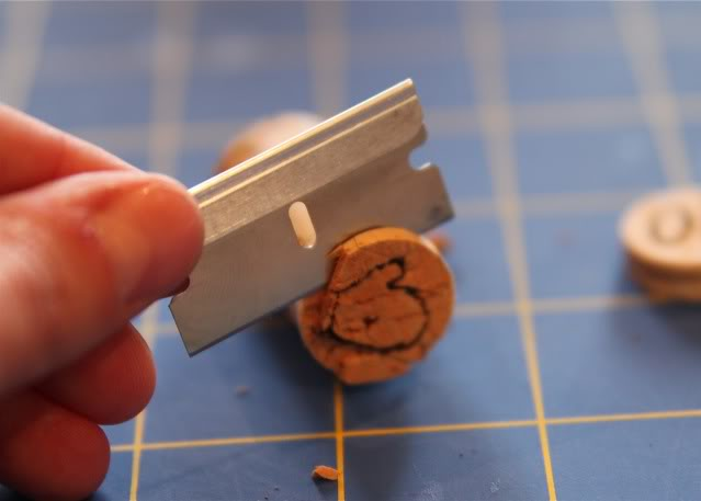 How to make mini stamps from wine corks 7 via lilblueboo.com