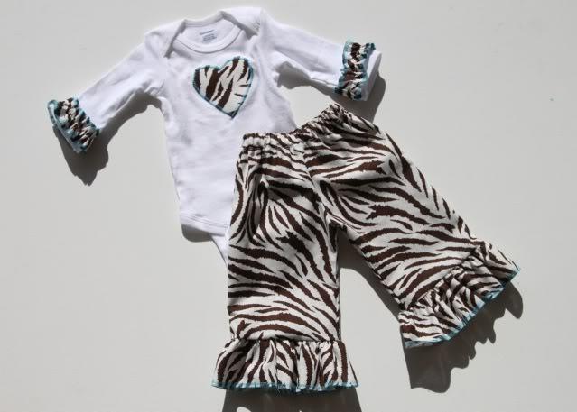A Handmade Christmas zebra outfit via lilblueboo.com