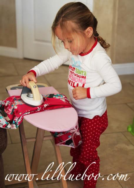 A Handmade Christmas Sienna ironing via lilblueboo.com
