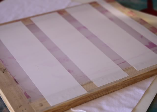 Using Contact Paper to Create a Distressed Plaid Design step 1 via lilblueboo.com