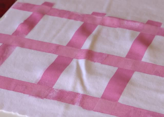 Using Contact Paper to Create a Distressed Plaid Design step 2a via lilblueboo.com
