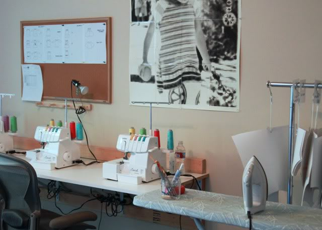 Small sewing studio via lilblueboo.com
