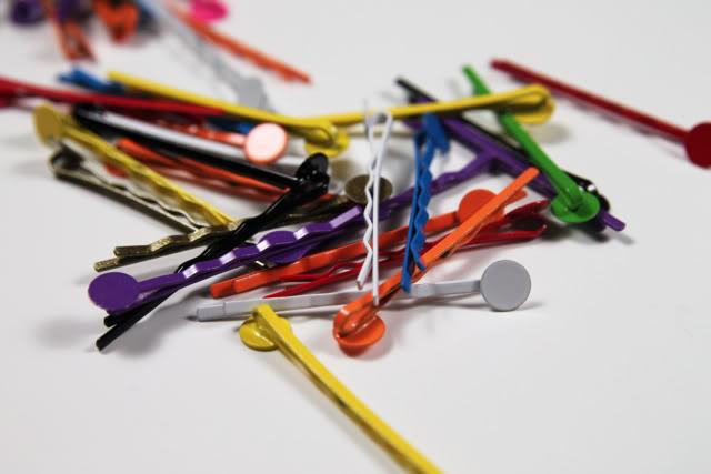 Where to buy bobbie pins and a Cabochon Accessories DIY Tutorial Process via lilblueboo.com