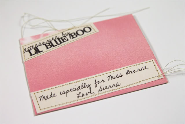 Cabochon Accessories DIY Tutorial Gift Tag via lilblueboo.com