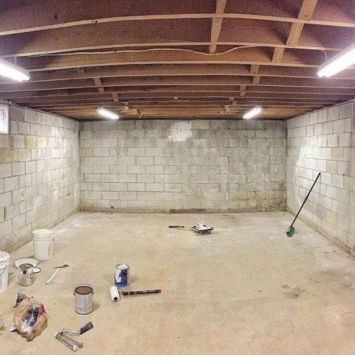 Art studio before - Basement renovation to art studio