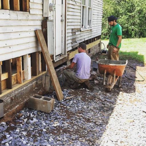 Laying Brick at the Farmhouse