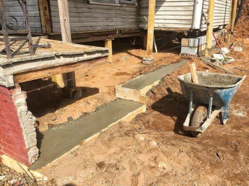 Fixing the farmhouse porch foundation