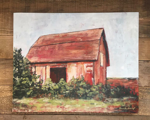 """""""The Barn in Bavaria"""" Acrylic 30"""" x 24"""" on Canvas Available on Etsy - Barn Painting by Ashley Hackshaw / Lil Blue Boo"""