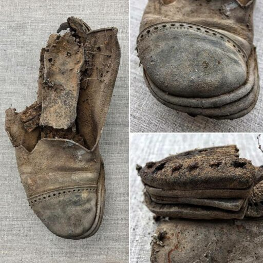 An old shoe found under the Farmhouse Porch