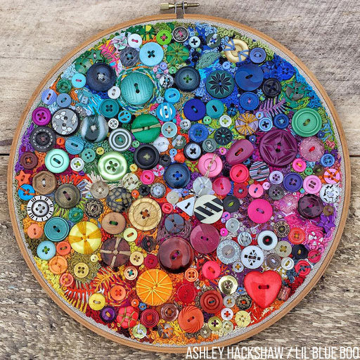 Button Art - A Year of Embroidery - One Button or Embroidery Stitch a Day for a Year - 365 Project