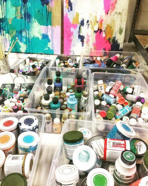 Paint Storage Art Studio