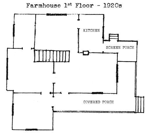 Original Farmhouse floor plan 1st floor