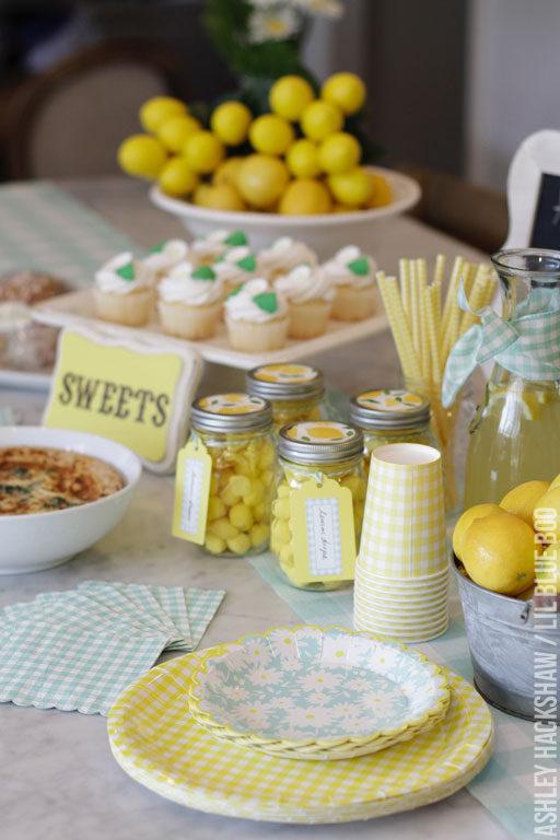 Meyer Lemon Party Decor - Martha Stewart Celebrations Mother's Day Party