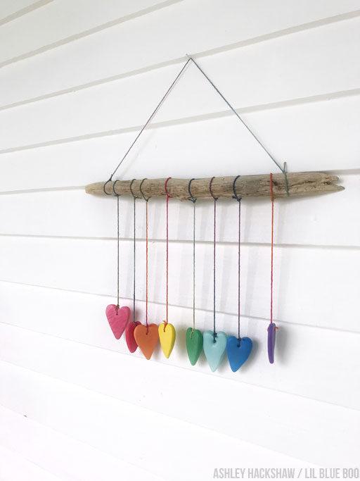 Rainbow Heart Wall Hanging - Crayola Model Magic Project