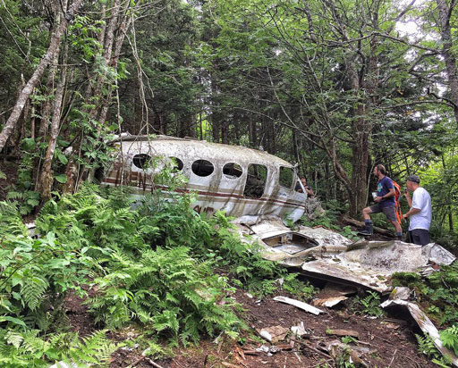 Hiking to a Plane Crash in the Smoky Mountains via Waterrock and Browning Knob